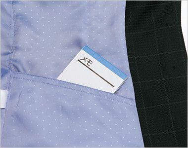 EAJ526 enjoy ジャケット チェック 左内側シークレットポケット