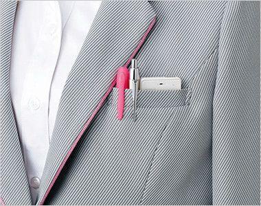 EAJ575 enjoy ジャケット 無地 PHS対応Wネームループ付胸ポケット