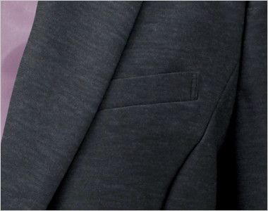 EAJ586 enjoy [通年]ジャケット 無地 Wネームループ付き左胸ポケット