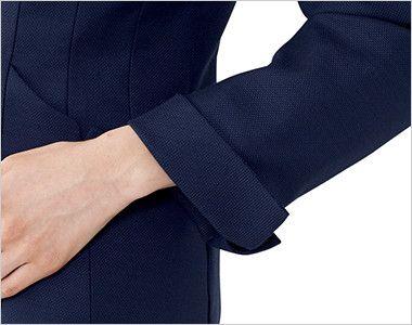 EAJ678 enjoy ジャケット 無地 美しい所作を演出する袖口の折返し仕様