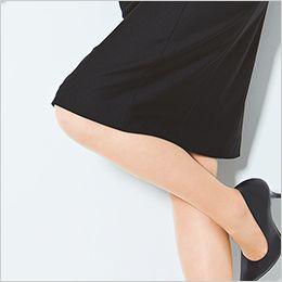 EAS588 enjoy [通年]セミタイトスカート ニット 無地