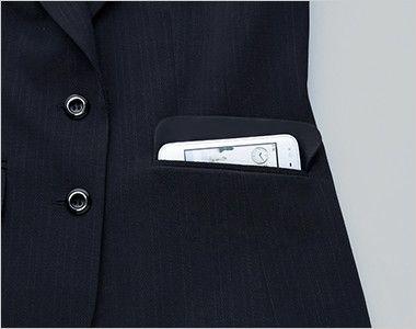 EAV375 enjoy ベスト ストライプ 大容量ポケット