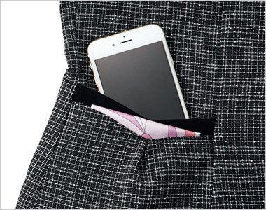 ENJOY EAV684 [通年]大人テイストに着こなせるツイード調の愛らしいベスト 大容量ポケット