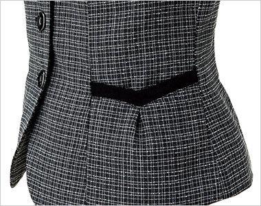 ENJOY EAV684 [通年]大人テイストに着こなせるツイード調の愛らしいベスト ハートモチーフのポケット
