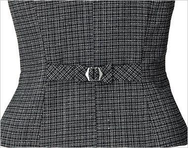 ENJOY EAV684 [通年]大人テイストに着こなせるツイード調の愛らしいベスト 背ベルト