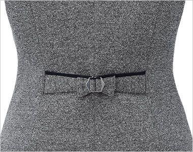 EAV717 enjoy [通年]ベスト [ニットツイード] シルエット調整が可能なリボン型背ベルト