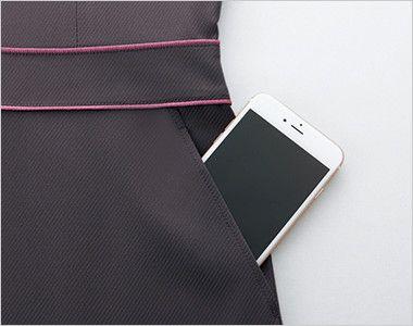 [在庫限り/返品交換不可]EAW576 enjoy ワンピース(女性用) 無地 大容量ポケット