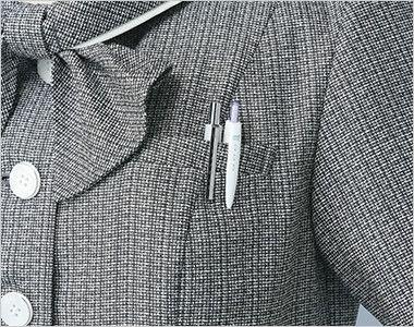 ESA704 enjoy [春夏用]オーバーブラウス ツイード 補強仕様ポケット