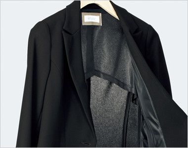 ESJ468 enjoy ノーカラージャケット 無地 空気と熱が通る素材&半背裏袖裏なしの夏仕様