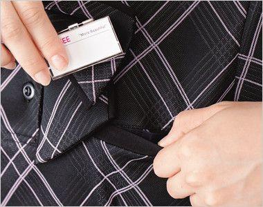ESP451 enjoy [春夏用]躍動感あふれる都会派エレガントなオフィスポロシャツ Wネームループ付きポケット