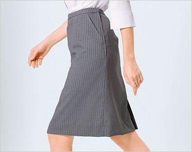 ESS456 enjoy [通年]セミタイトスカート ストライプ