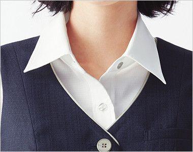 ESV705 enjoy [春夏用]ベスト ツイード 胸元を美しく見せる黄金比のVゾーン