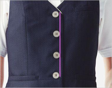 ESV705 enjoy [春夏用]ベスト ツイード 4つのボタンのIラインが細見え効果を演出