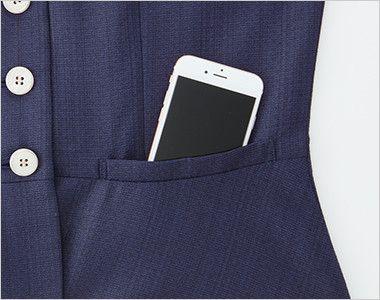 ESV705 enjoy [春夏用]ベスト ツイード 大容量ポケット