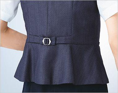 ESV705 enjoy [春夏用]ベスト ツイード リボン型背ベルト 開き