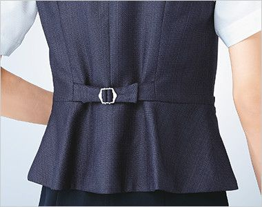 ESV705 enjoy [春夏用]ベスト ツイード リボン型背ベルト 閉め