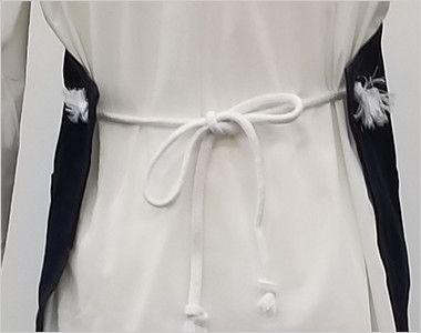 47223 クロダルマ デニムエプロン(ロープ) 胸当て 蝶結びできる長さのロープの腰ひも