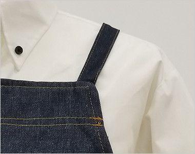 47224 クロダルマ デニムエプロン(ひも)綿100% 胸当て X型 すっきりとしたデザイン