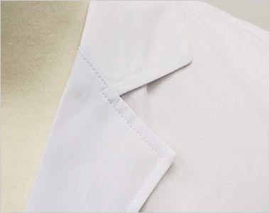 [ネット限定商品]81-491 MONTBLANC メンズ診察衣(ドクターコート) シングル 長袖 シンプルな襟元