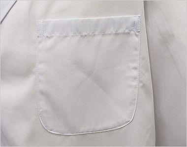 [ネット限定商品]81-491 MONTBLANC メンズ診察衣(ドクターコート) シングル 長袖 PHS、ペンなどが収納できる左胸ポケット