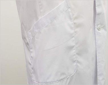 [ネット限定商品]81-491 MONTBLANC メンズ診察衣(ドクターコート) シングル 長袖 右脇ポケット
