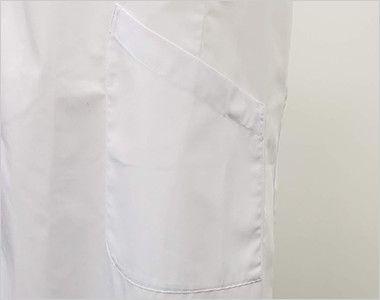 [ネット限定商品]81-491 MONTBLANC メンズ診察衣(ドクターコート) シングル 長袖 左脇ポケット