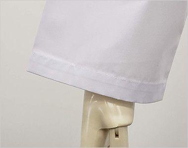 [ネット限定商品]81-491 MONTBLANC メンズ診察衣(ドクターコート) シングル 長袖 すっきりしたひもなしタイプ