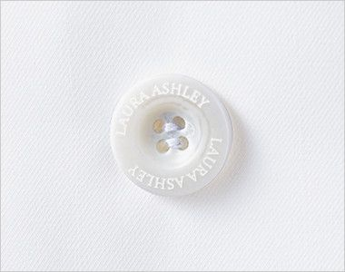 LW102 ローラ アシュレイ 長袖ドクターコート(女性用) オリジナルボタン