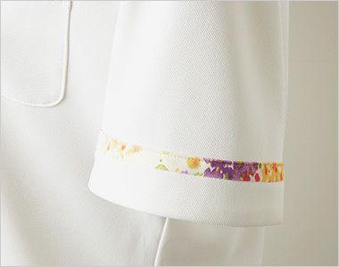 LW201 ローラ アシュレイ 半袖ニットシャツ ポロシャツ(女性用)NLK さりげない花柄プリント使い