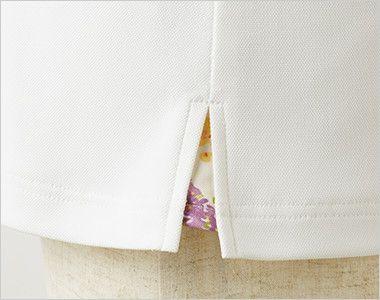 LW201 ローラ アシュレイ 半袖ニットシャツ ポロシャツ(女性用)NLK 花柄がちらりとのぞく脇スリット