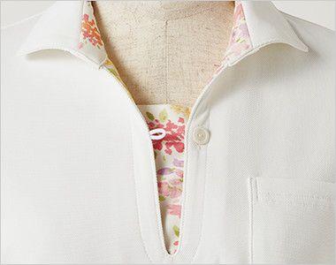 LW203 ローラ アシュレイ 半袖ニットシャツ ポロシャツ(女性用)NLK ボタンの開け閉めで印象を変えられる2WAY仕様