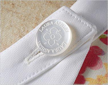 LW411 ローラ アシュレイ 半袖ナースワンピース(女性用) オリジナルボタン