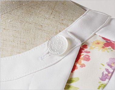 LW601 ローラ アシュレイ 半袖ナースジャケット(女性用) オリジナルボタン
