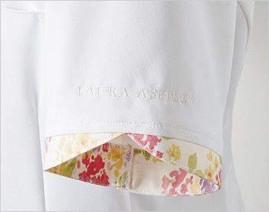 LW801 ローラ アシュレイ 半袖ナースジャケット(女性用) 花びらのような袖口。ロゴ刺繍入り