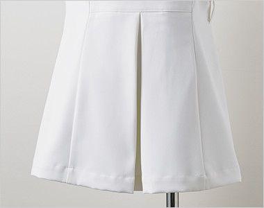 LW801 ローラ アシュレイ 半袖ナースジャケット(女性用) 後ろ姿もキレイなプリーツ入り