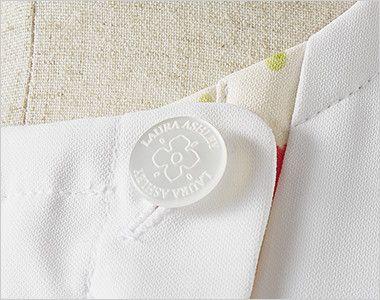 LW802 ローラ アシュレイ 半袖ナースジャケット(女性用) オリジナルボタン
