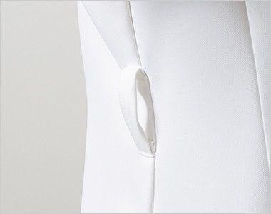 LW802 ローラ アシュレイ 半袖ナースジャケット(女性用) ウエストループ付き