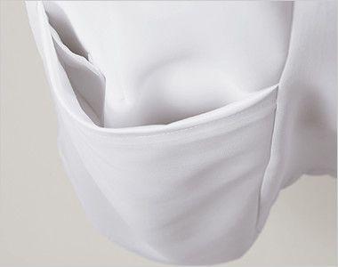 LW802 ローラ アシュレイ 半袖ナースジャケット(女性用) 内ポケット付き