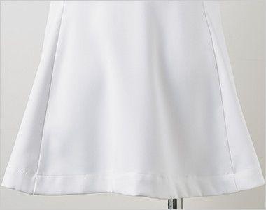 LW802 ローラ アシュレイ 半袖ナースジャケット(女性用) 後ろ姿もかわいらしいフレアシルエット