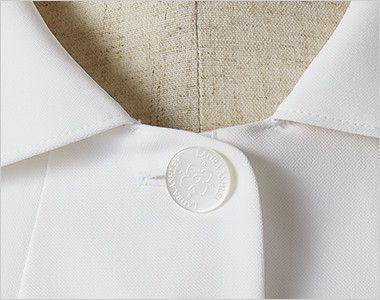 LW803 ローラ アシュレイ 半袖ナースジャケット(女性用) オリジナルボタン