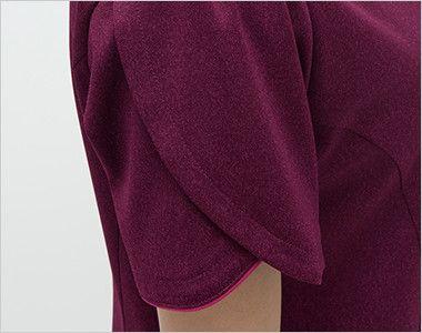 BD6107 ナガイレーベン(nagaileben) 資生堂 BraightDays ワンピース(女性用) 花びらが重なるような雰囲気の袖