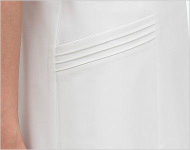 CA1797 ナガイレーベン(nagaileben) キャリアル ワンピース(女性用) 3本のラインがおしゃれな脇ポケット