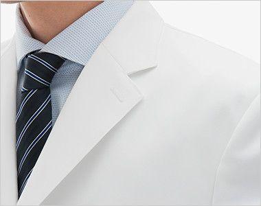 [送料無料]FD4000 ナガイレーベン(nagaileben) シングル診察衣長袖(Y体・細身)(男性用) 襟元