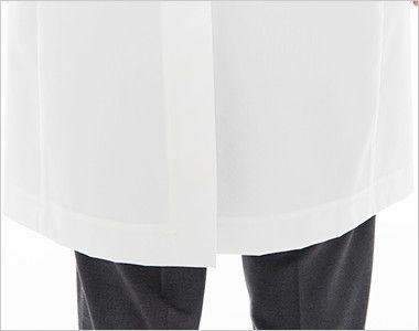 [送料無料]FD4000 ナガイレーベン(nagaileben) シングル診察衣長袖(Y体・細身)(男性用) 座るときにしわになりにくいセンターベンツ
