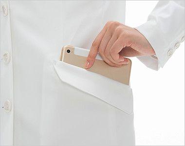 [送料無料]FD4040 ナガイレーベン(nagaileben) シングル診察衣長袖(Y体・細身)(女性用) タブレットが収納できる脇ポケット