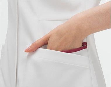FT4537 ナガイレーベン(nagaileben) フェルネ ワンピース(女性用) おしゃれで収納力のある二重構造の両脇ポケット