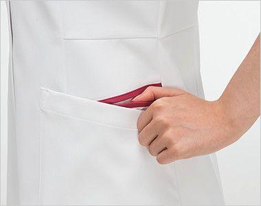 FT4552 ナガイレーベン(nagaileben) フェルネ チュニック(女性用) おしゃれで収納力のある二重構造の両脇ポケット