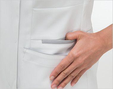 FT4622 ナガイレーベン(nagaileben) フェルネ チュニック(女性用) おしゃれで収納力のある二重構造の両脇ポケット