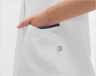 HOS4952 ナガイレーベン(nagaileben) スクラブ(女性用) おしゃれで収納力のある二重構造のポケット