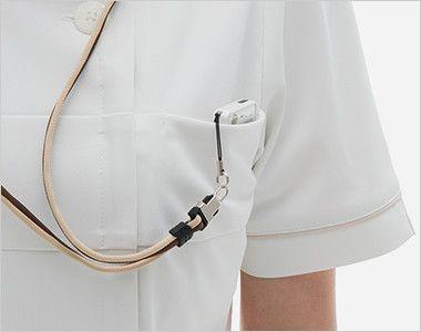 LH6207 ナガイレーベン(nagaileben) ビーズベリー 半袖ワンピース(女性用) PHSポケット